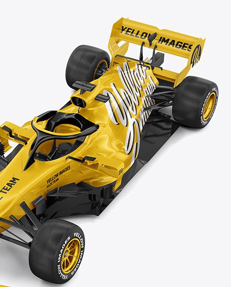 Formula-1 2020 Mockup - Half Side View (high-angle shot)