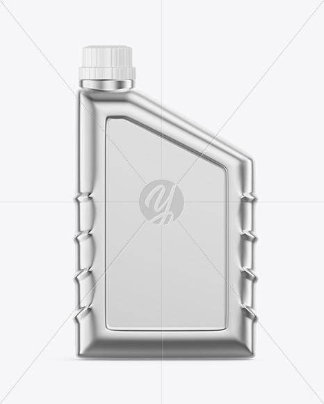 Metallic Motor Oil Bottle Mockup