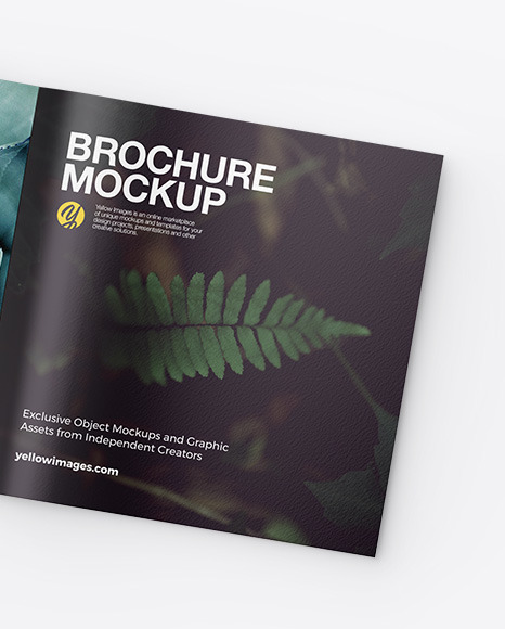 Two Square Brochures Mockup