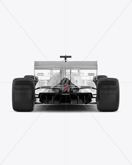 Formula-1 2020 Mockup - Back View - Yellowimages Mockups