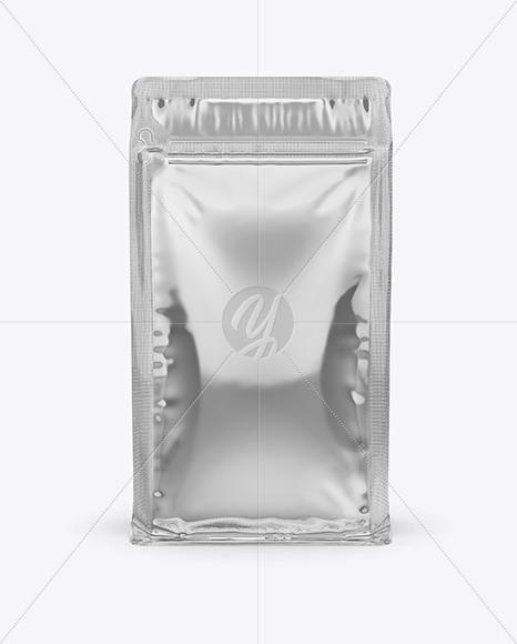 Metallic Coffee Bag with Zipper Mockup