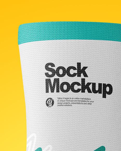 Sock Mockup - Half Side View