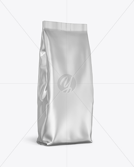 Download Metallic Paper Foodsnack Bag Mockup Front View PSD - Free PSD Mockup Templates