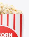Popcorn Bag Mockup - Front View