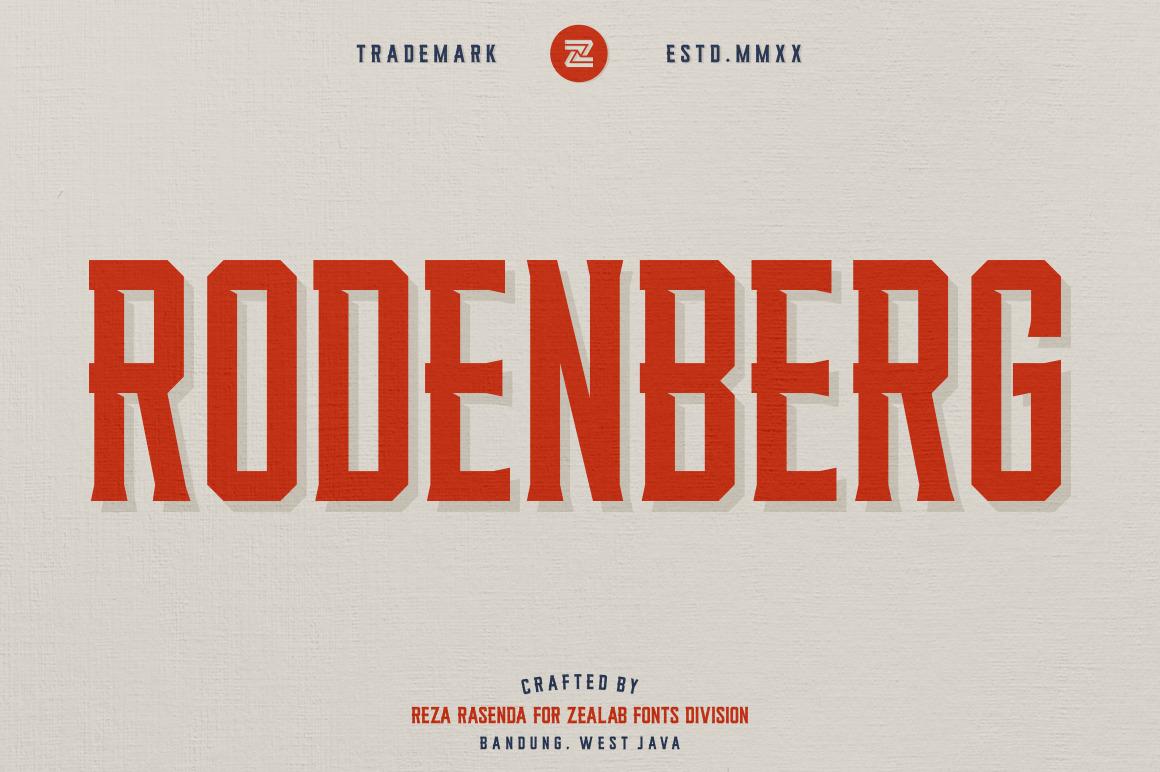 RODENBERG MULTIPURPOSE DISPLAY TYPEFACE