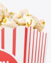 Popcorn Bag Mockup -Half Side View