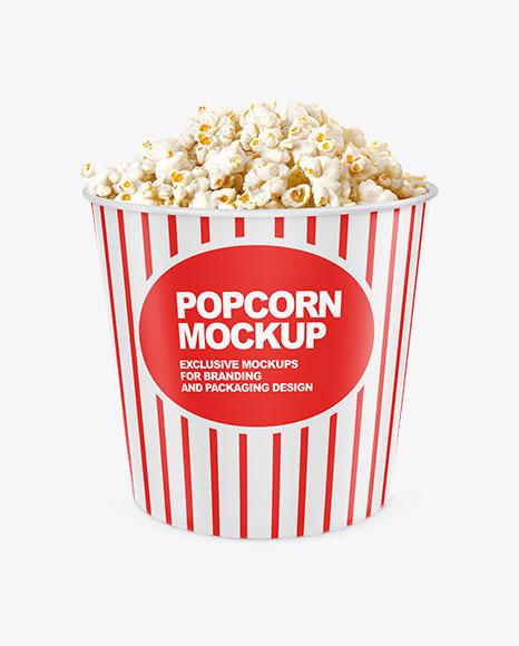 Popcorn Bucket Mockup