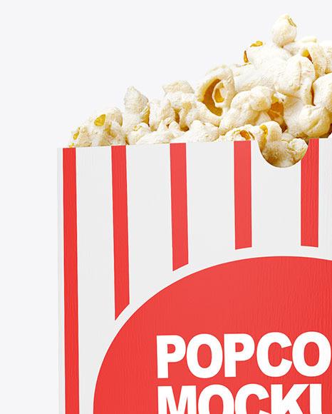 Popcorn Bag Mockup - Half Side View
