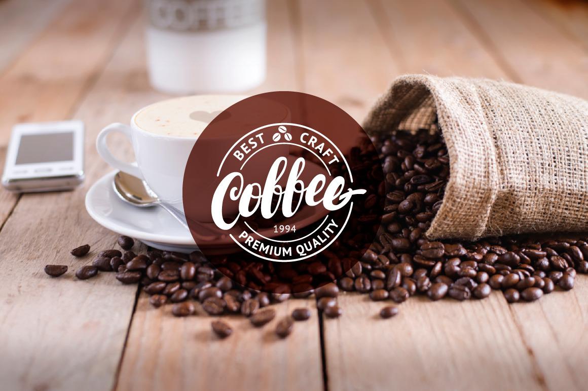 9 Letttering Vintage Coffee Logos