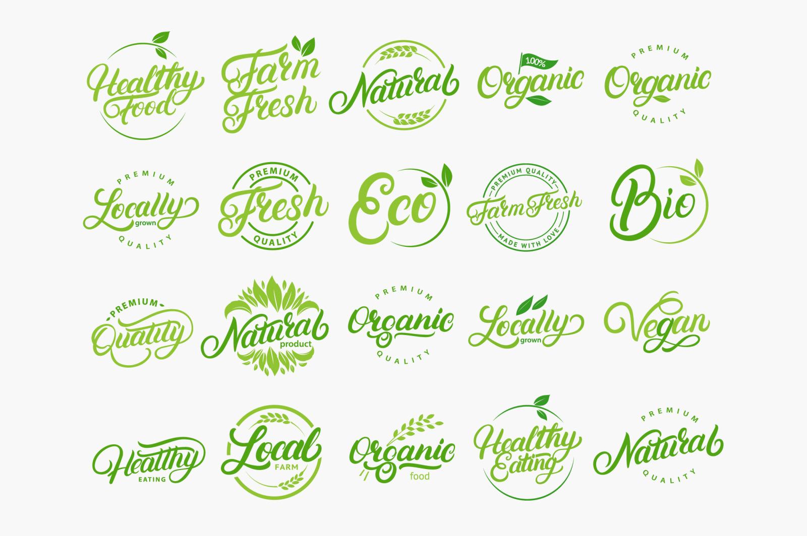20 Organic and Natural Logos