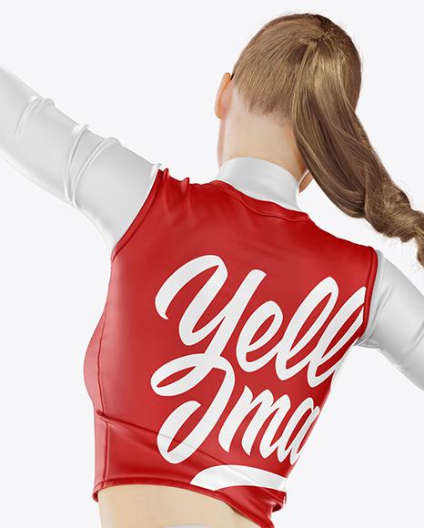 Jumping Cheerleader Girl Mockup