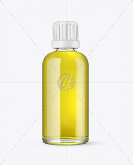 Download Clear Glass Bottle With Oil Mockup In Bottle Mockups On Yellow Images Object Mockups Yellowimages Mockups