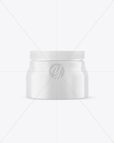 Plastic Jar w/ Matte Shrink Sleeve Mockup