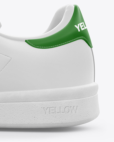 Download Leather Sneaker Mockup Left Side View Yellow Images