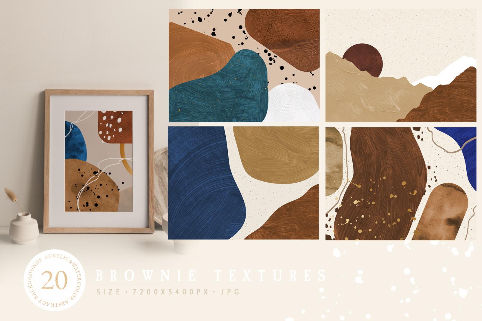 Brownie Invitation Textures