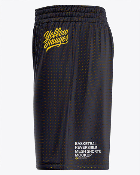 Download Basketball Reversible Mesh Jersey Mockup Back View Yellow Images
