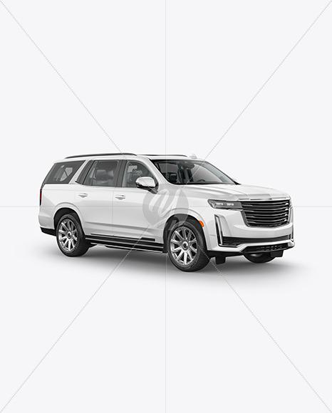 Luxury SUV Mockup - HalfSide View - Yellowimages Mockups