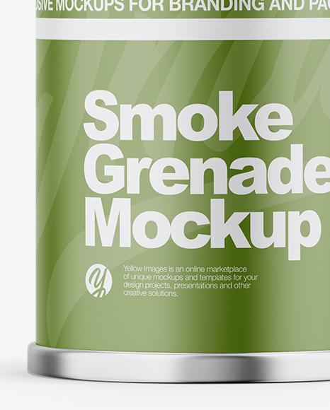 Matte Smoke Grenade Mockup