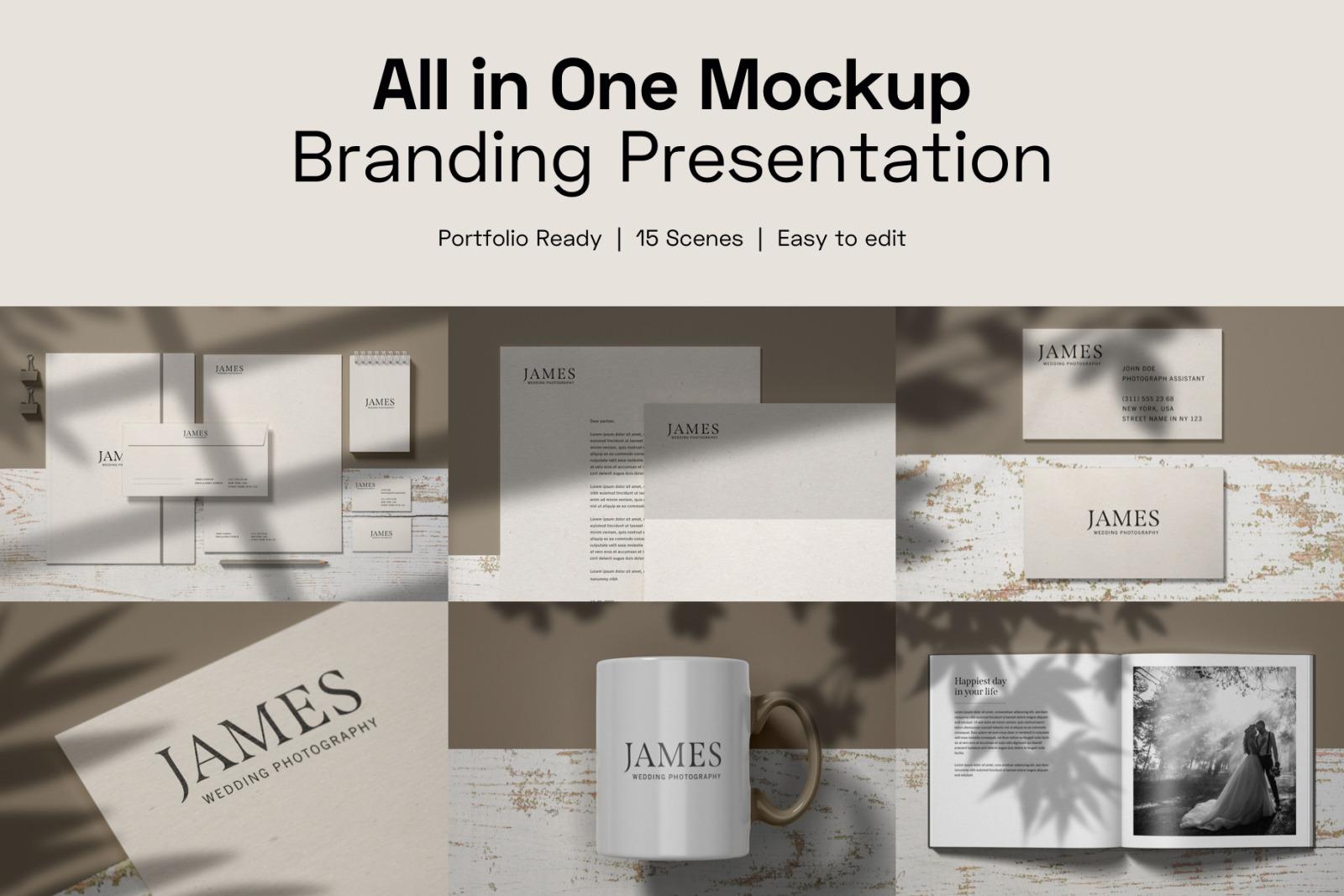 All in One Branding Mockup Set