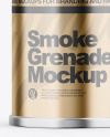 Glossy Metallic Smoke Grenade Mockup