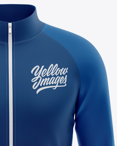 Men's Raglan Track Jacket Mockup - Front View