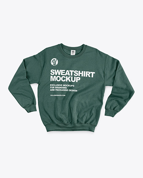 Sweatshirt with Crew Neck Mockup