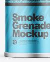 Matte Metallic Smoke Grenade Mockup