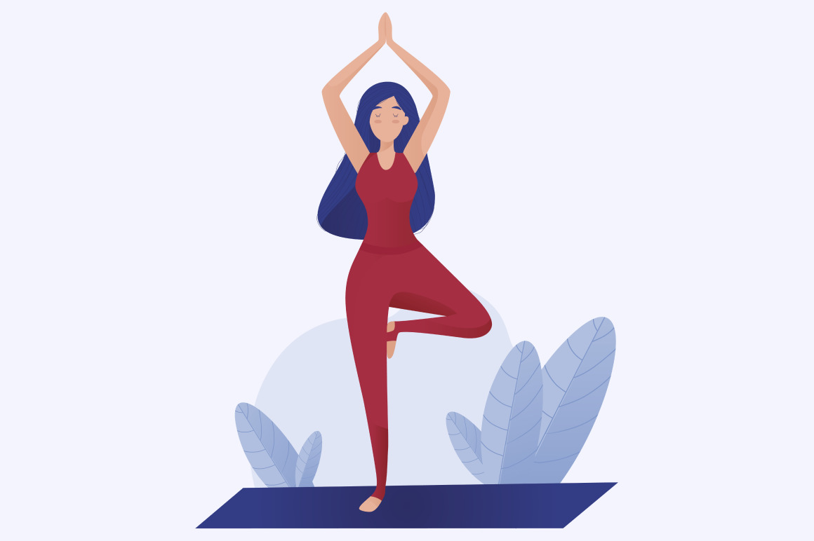 Yoga style vector illustration