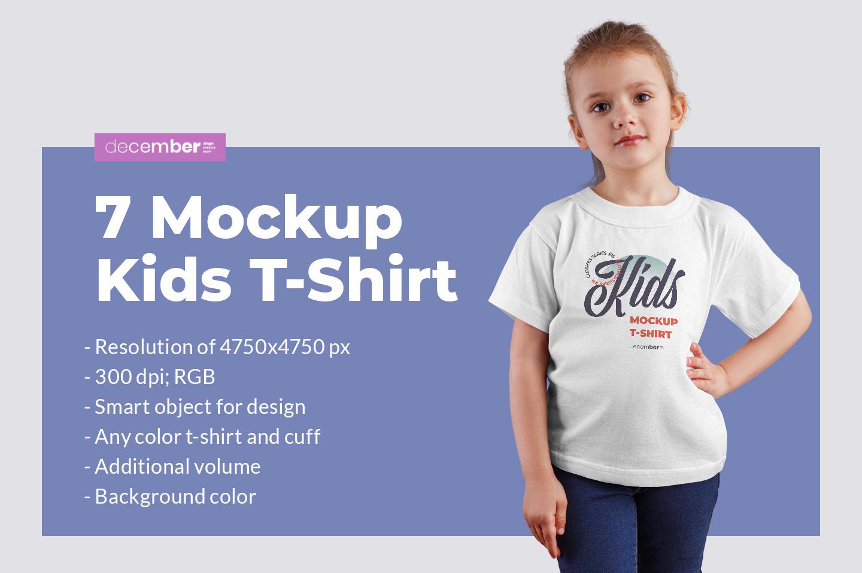 Download Kids White T Shirt Mockup PSD Mockup Templates