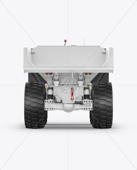 Articulated Hauler Mockup - Back View - Yellowimages Mockups