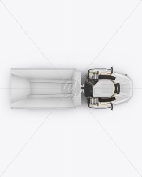 Articulated Hauler Mockup - Top View - Yellowimages Mockups