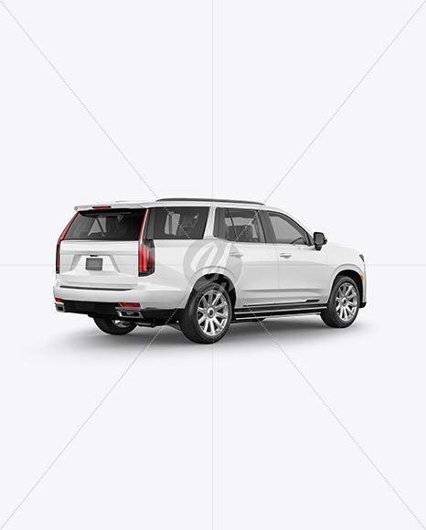 Luxury SUV Mockup - Back HalfSide View - Yellowimages Mockups