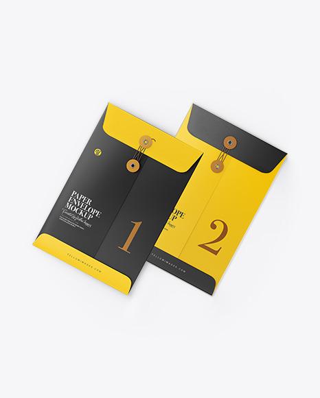 Two Paper Envelopes Mockup