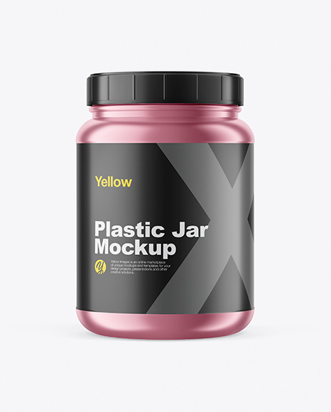 Download Yellowimages Matte Metallized Protein Jar Mockup Free Download Godownloads PSD Mockup Templates