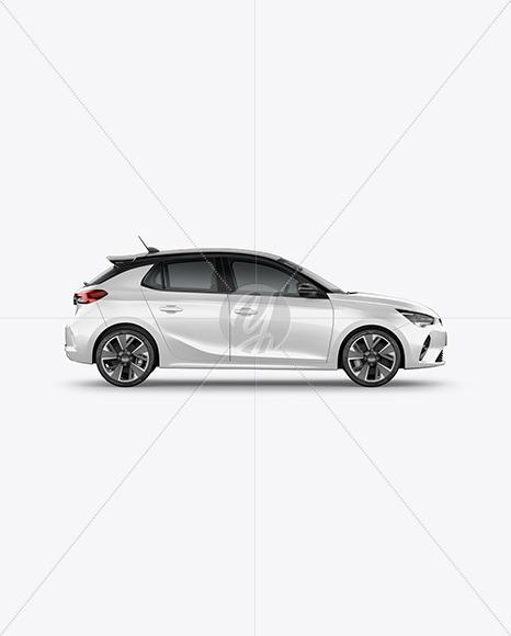 Hatchback 5-doors Mockup - Side View - Yellowimages Mockups