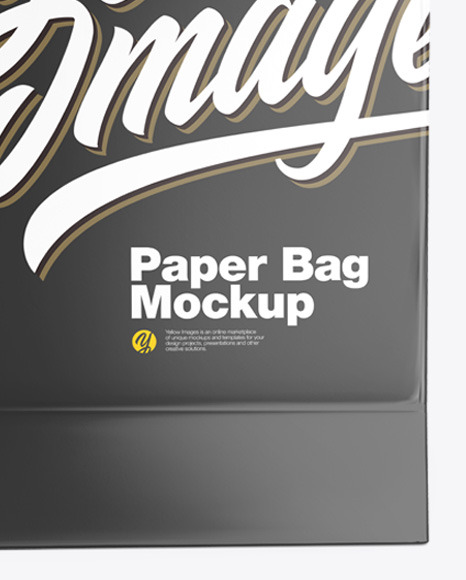 Glossy Shopping Bag Mockup