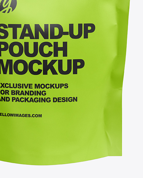 Matte Pouch Mockup - Front View