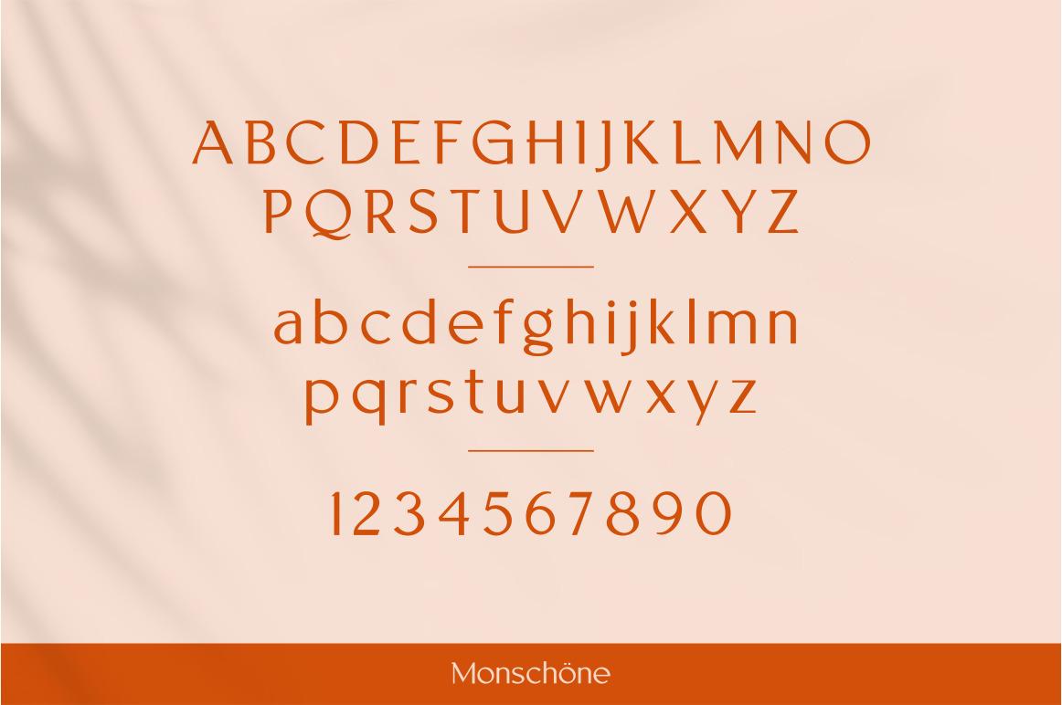 Monschone Luxury font