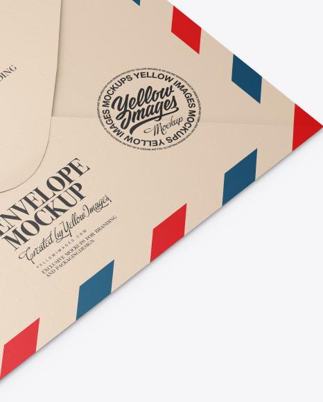 Envelope Mockup In Stationery Mockups On Yellow Images Object Mockups