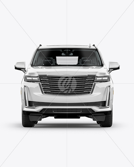 Luxury SUV Mockup - Front View - Yellowimages Mockups