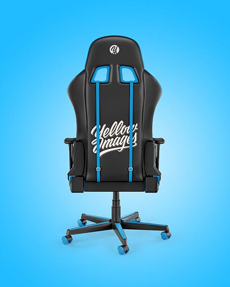 Gaming Chair Mockup - Back View