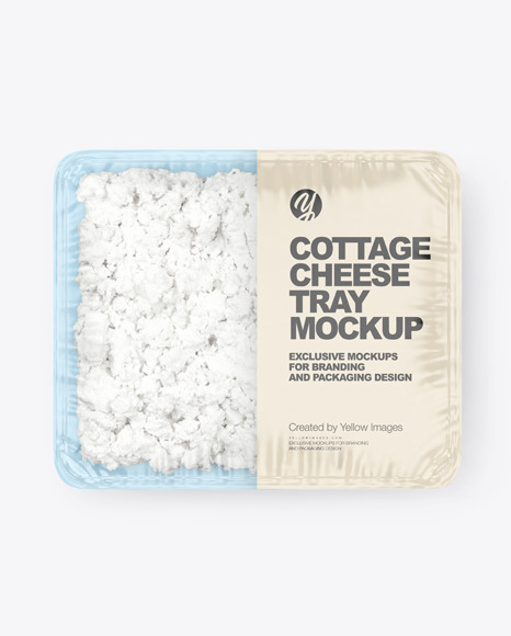 Plastic Tray With Cottage Cheese Mockup