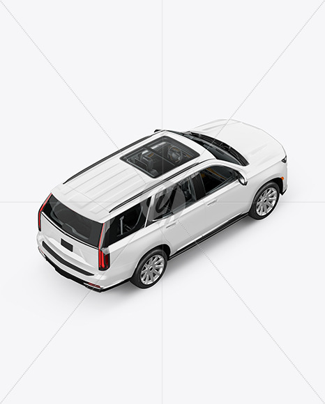 Luxury SUV Mockup - Top Back HalfSide View - Yellowimages Mockups