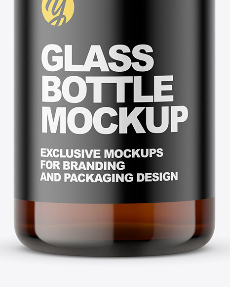 30ml Amber Glass Pharmacy Bottle Mockup