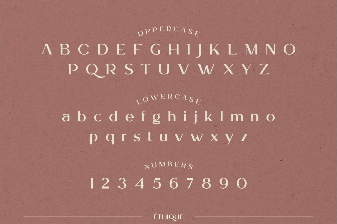 ETHIQUE - elegant font