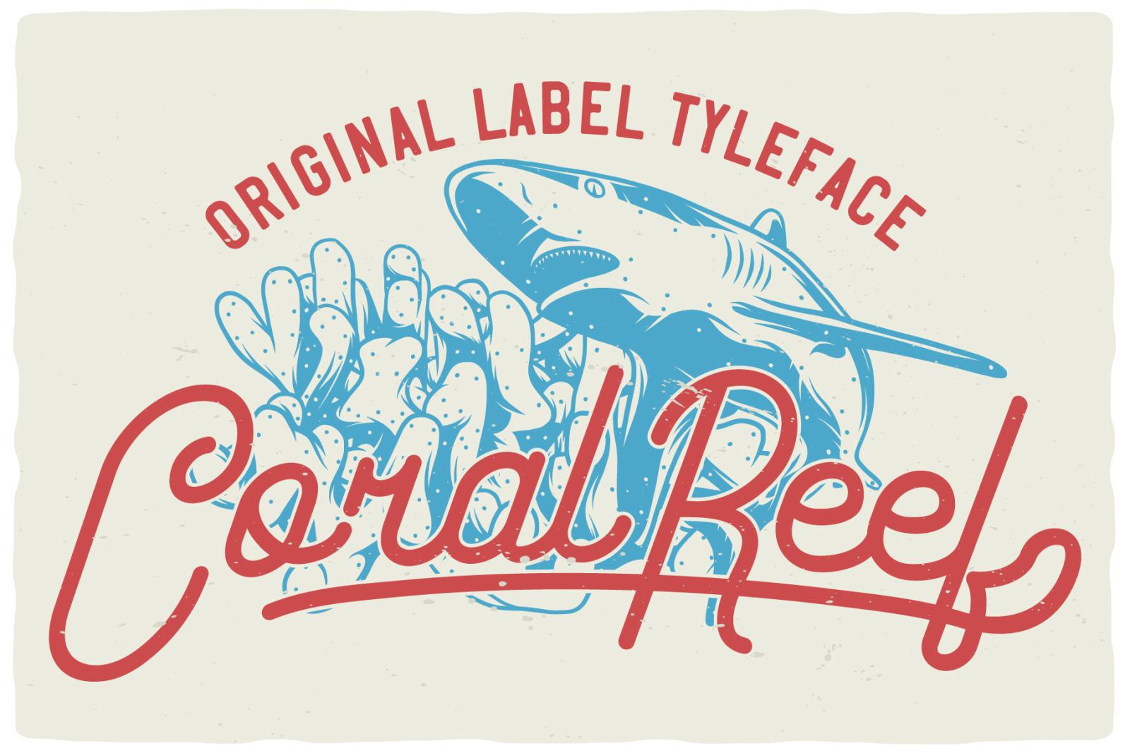 Coral Reef script font