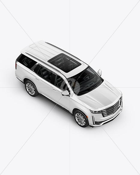 Luxury SUV Mockup - Top HalfSide View - Yellowimages Mockups