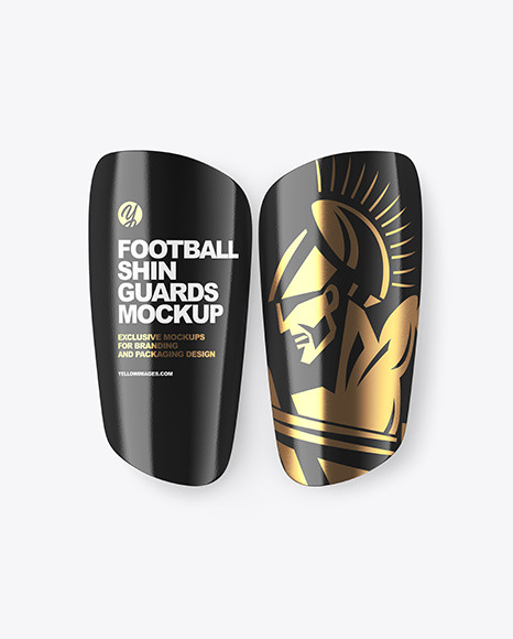 Glossy Football Shin Guards