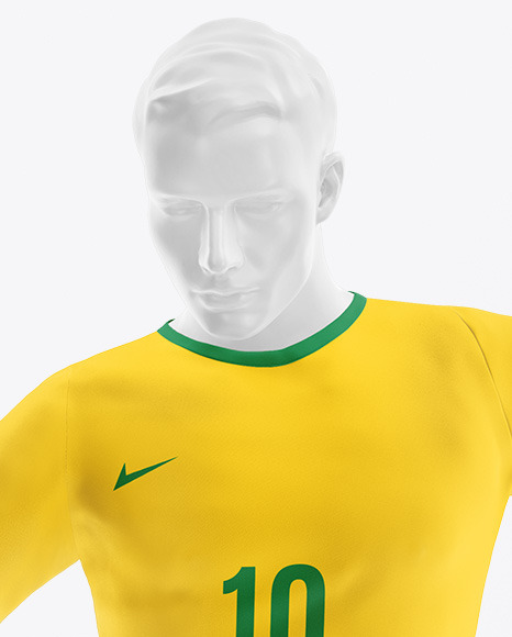 Soccer Team Kit Mockup with Mannequin - Front View