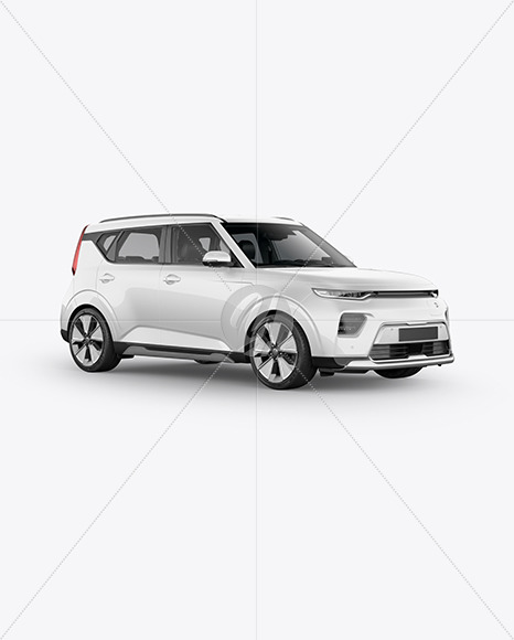 Compact Car Mockup - HalfSide View - Yellowimages Mockups